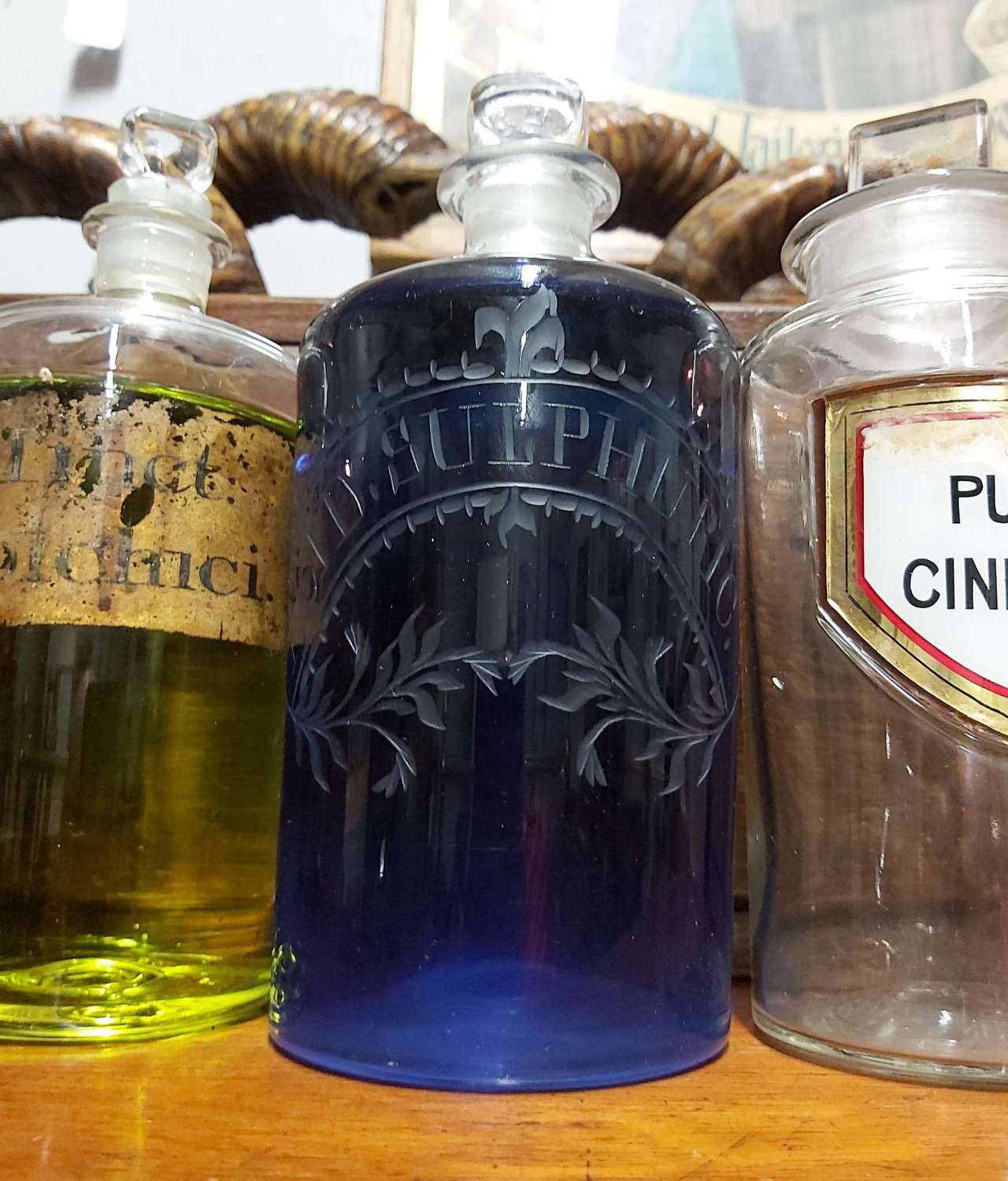 19th Century Engraved Apothecary bottle