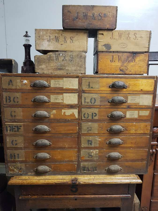 C1900's Industrial Bank Of Drawers