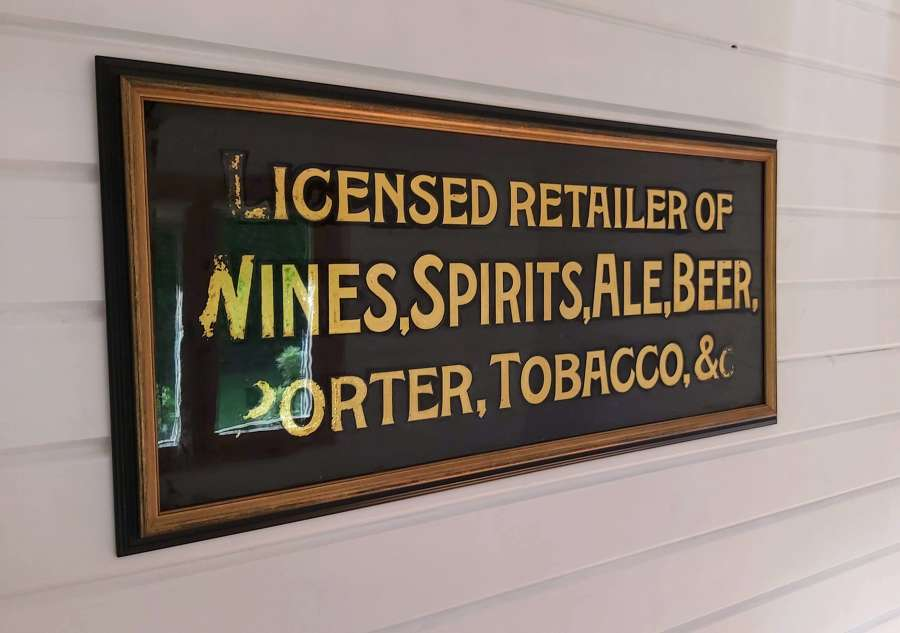 Late 19th century Public House glass sign
