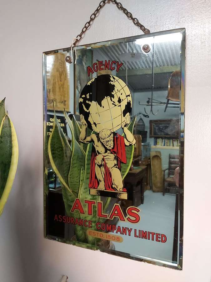 1930's Atlas advertising mirror