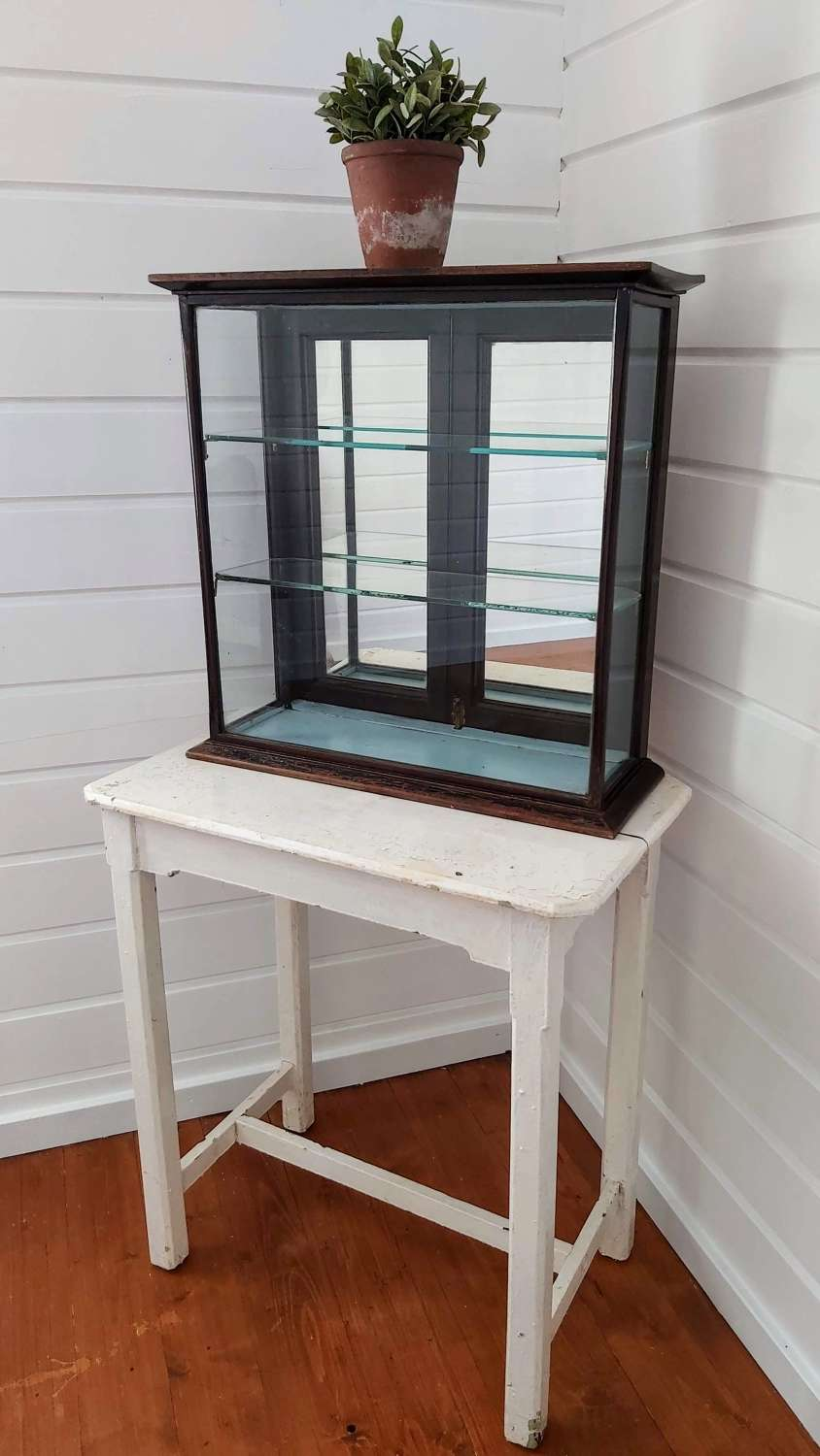19th century mirror backed shop counter display cabinet