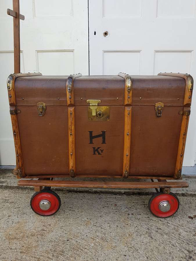 Early 20th century Bentwood steamer trunk