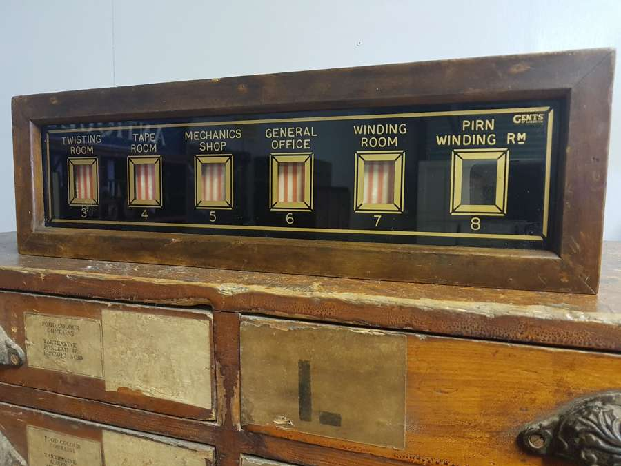 Gents of Leicester factory service indicator box