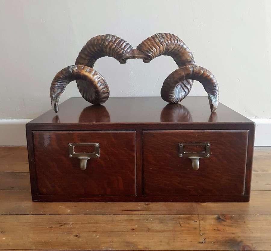 Vintage Oak index drawers