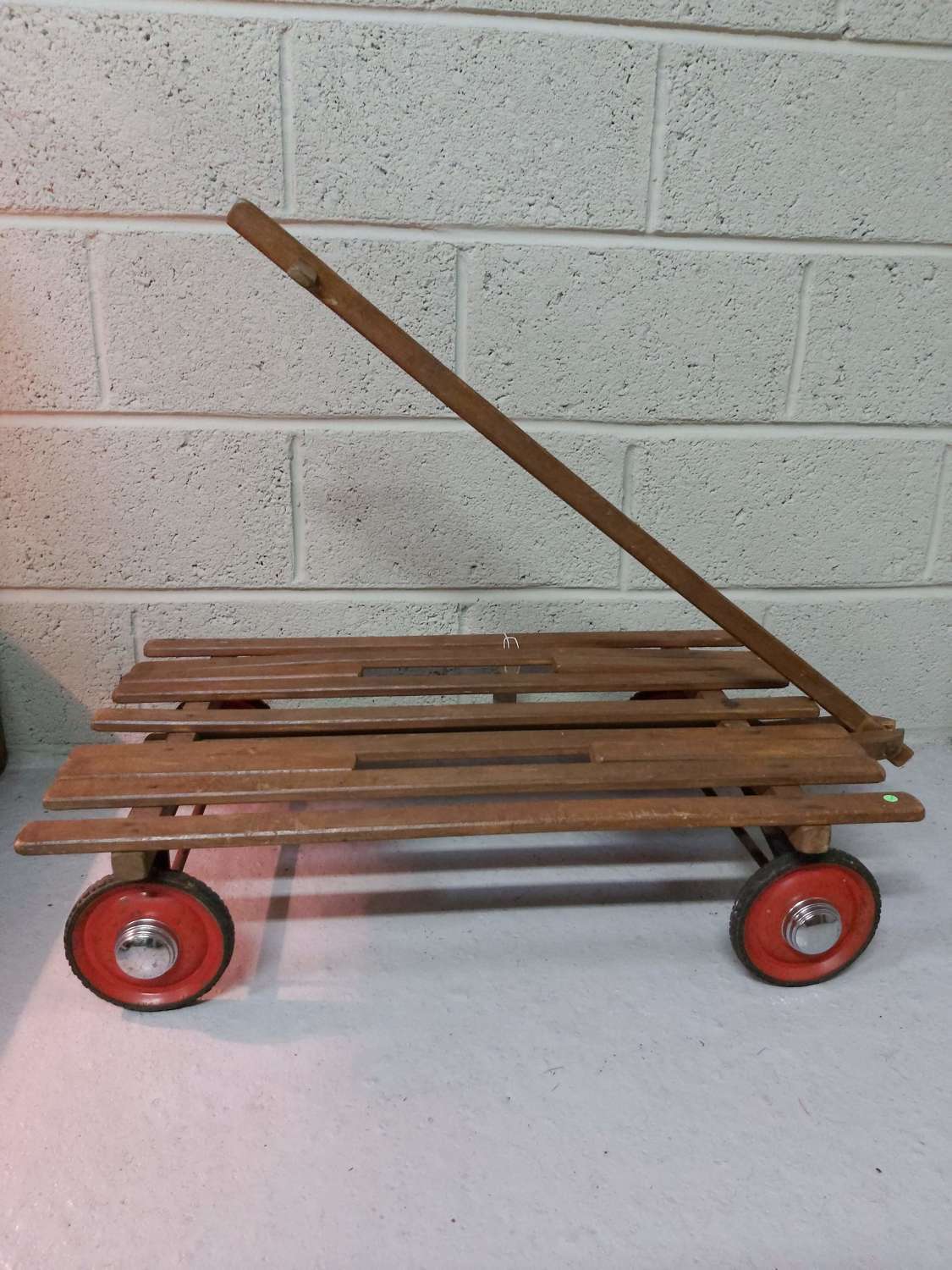 1950's pull along wooden cart