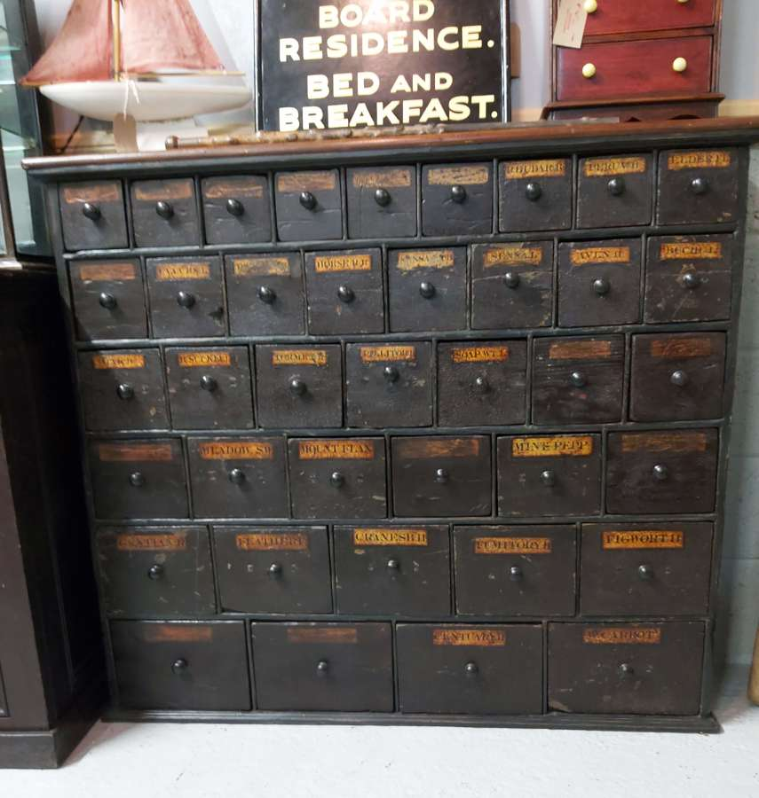 Early 19th century Apothercary drawers