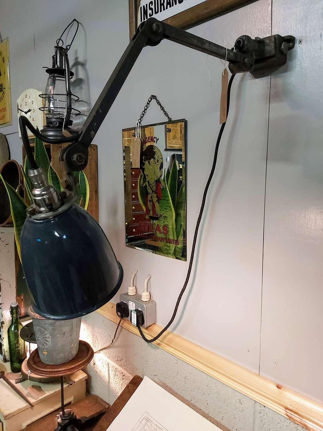 1950's articulated machinist task light
