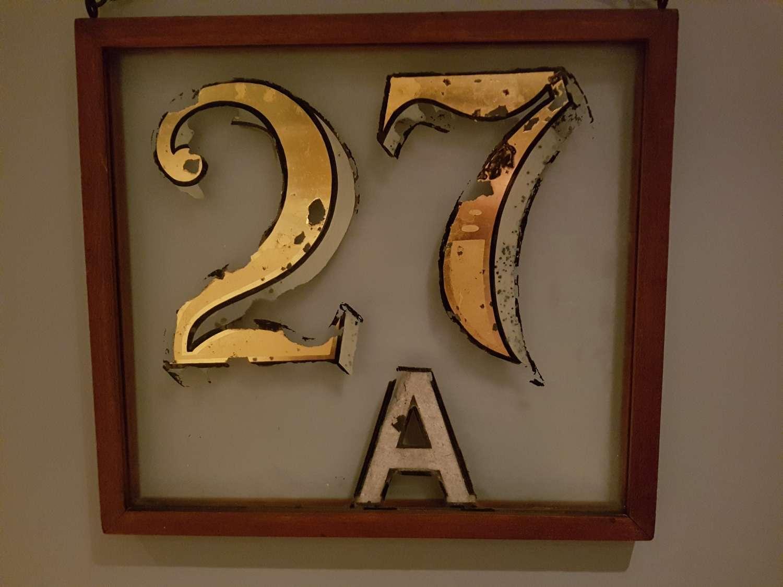 Framed distressed 27a house number