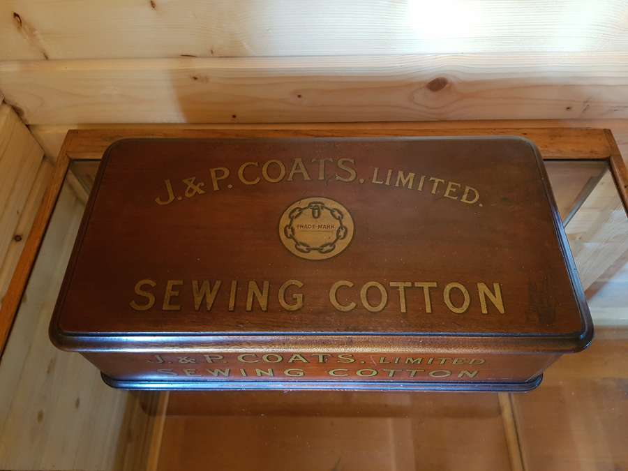 J&P Coats sewing cotton cabinet