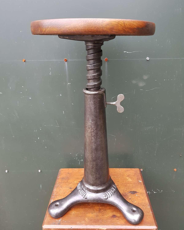 Vintage Singer industrial stool
