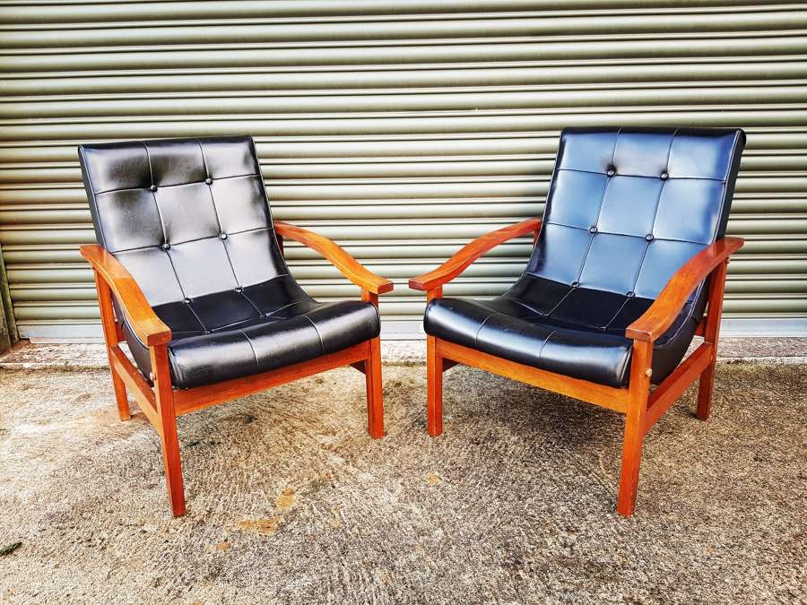 Pair of Mid Century easy chairs