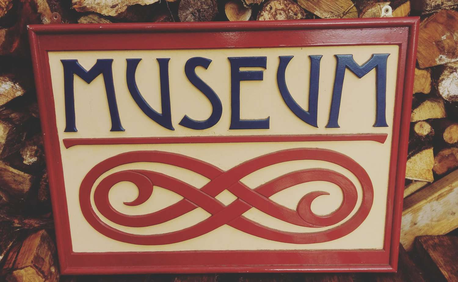 Art Deco Double sided Museum sign