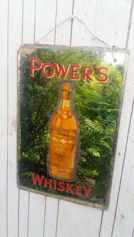 Powers Irish Whiskey mirror