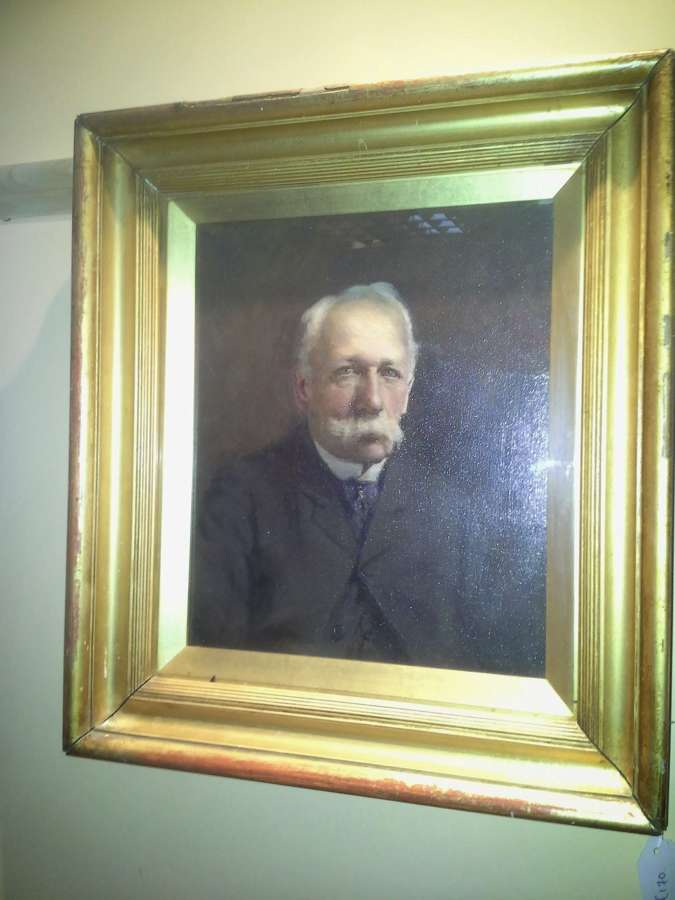 C1900 oil on canvas portrait study of a old gentleman