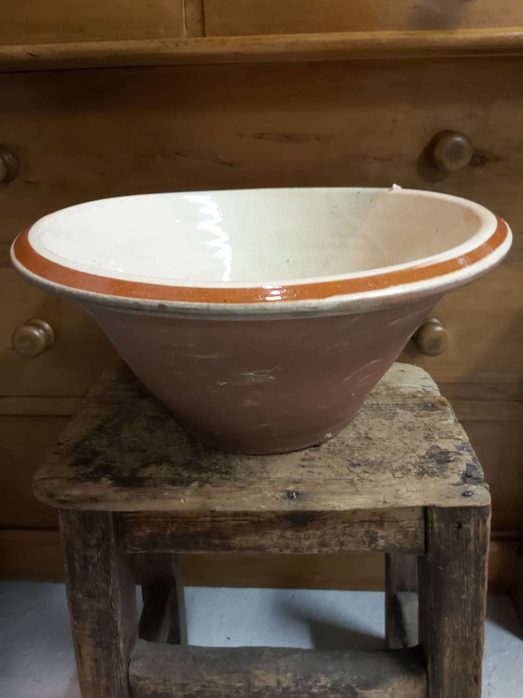 19th century Terracotta dairy bowl