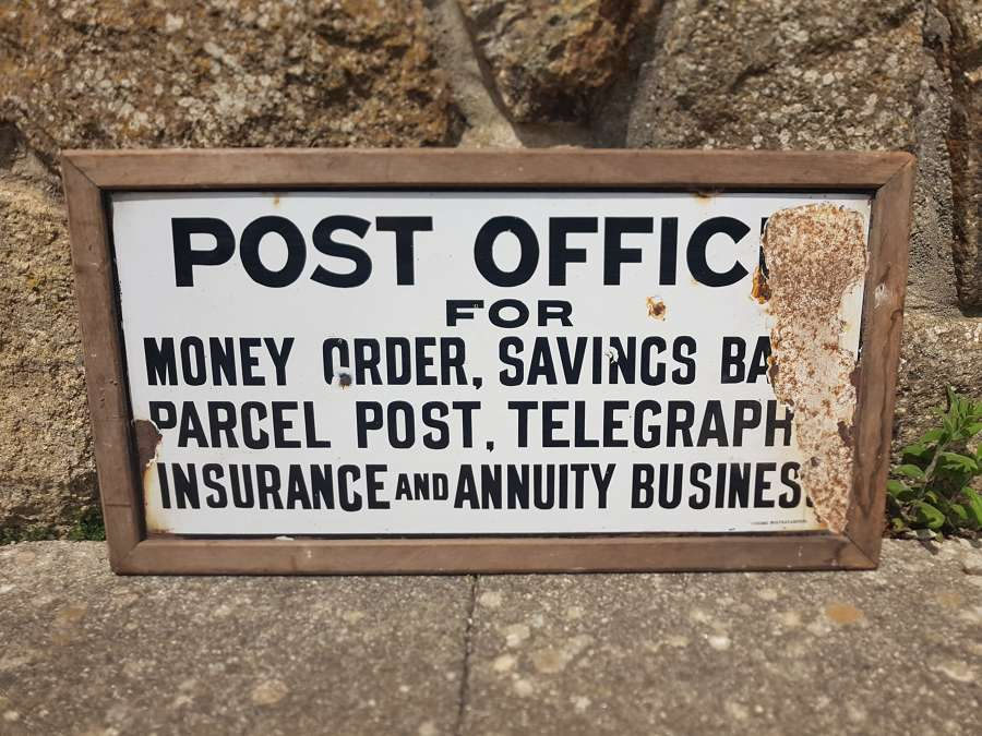 Old Enamel post office sign