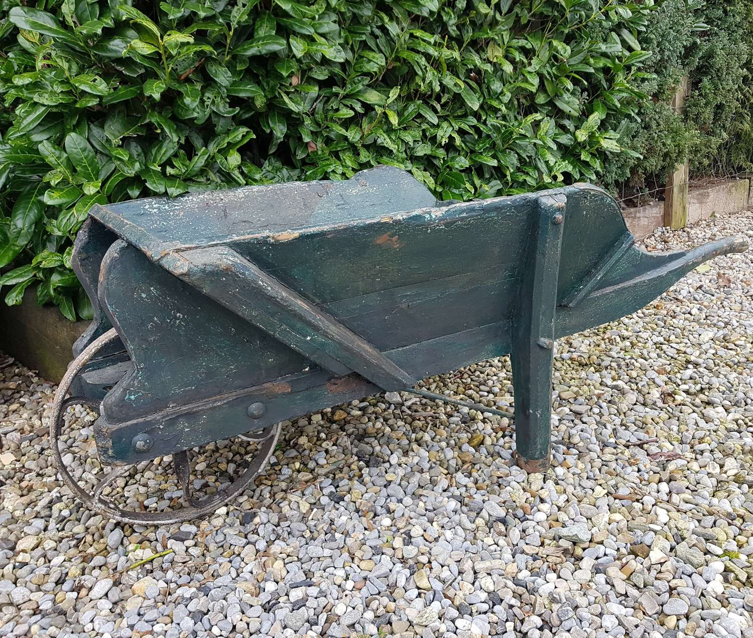 Old Wooden Estate Wheelbarrow