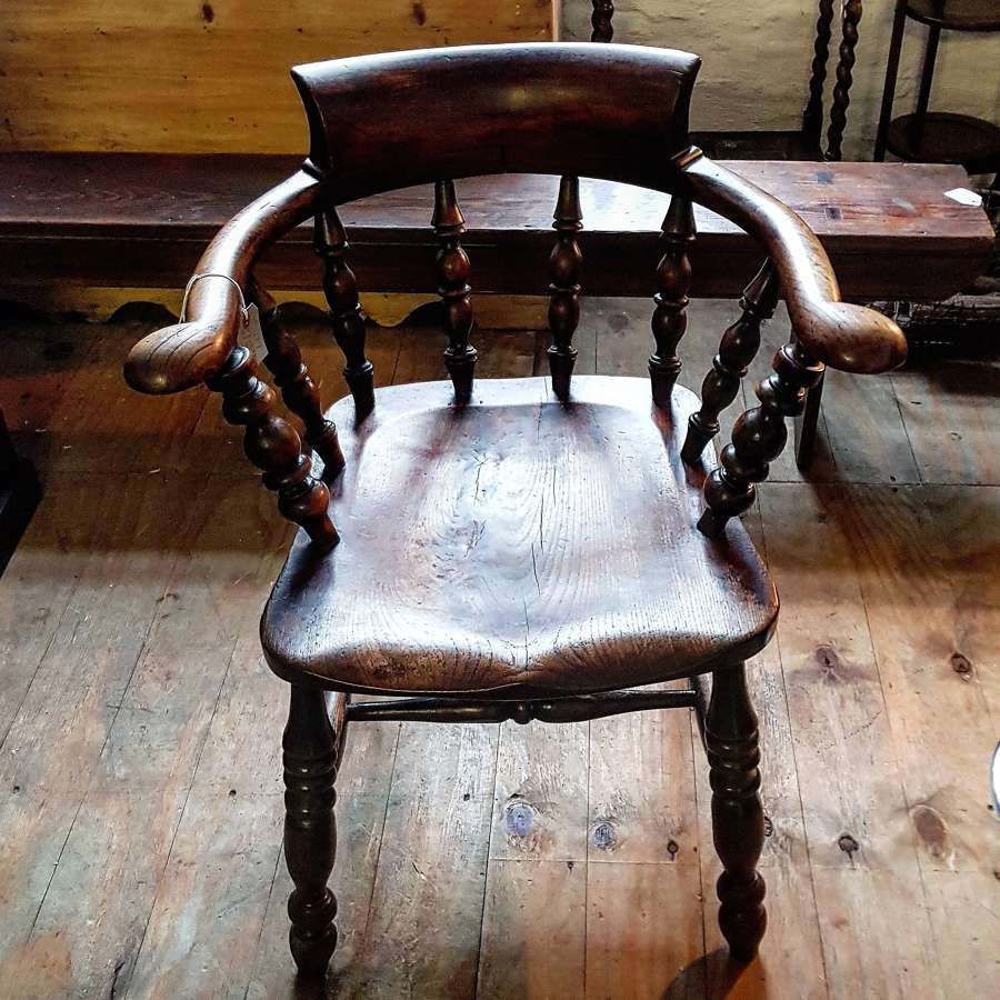 19th century smokers bow chair