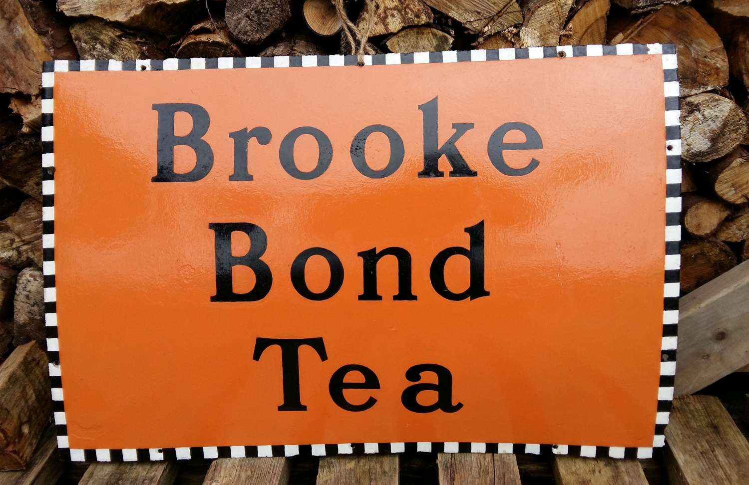 Vintage Brooke Bond tea enamel sign