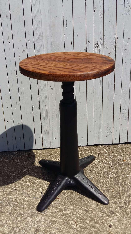 Vintage Industrial Singer stool