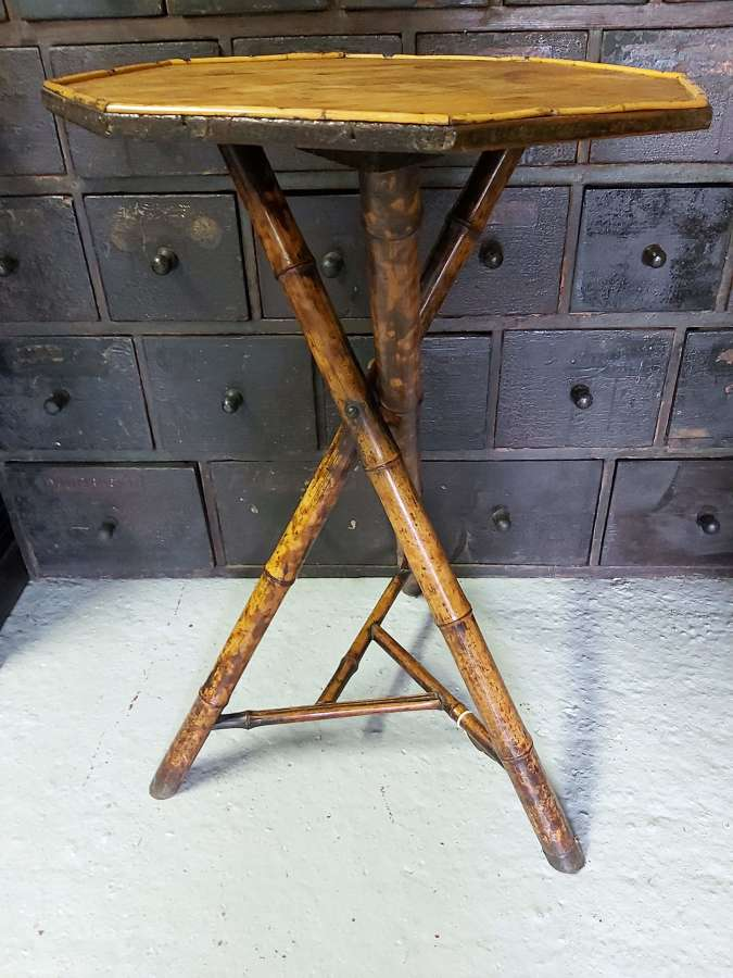 Early 20th century Bamboo lamp table