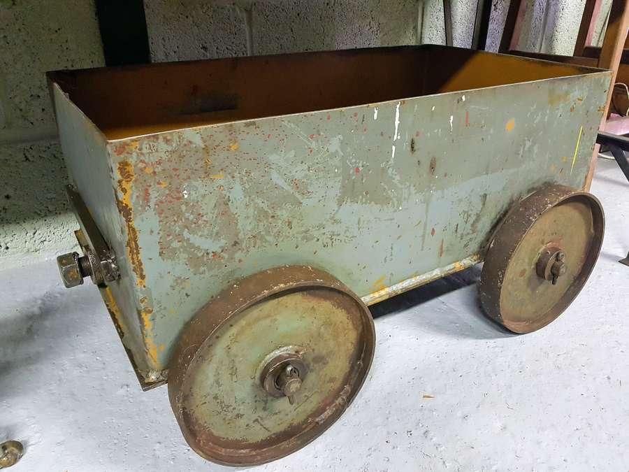 Vintage Industrial box cart on wheels