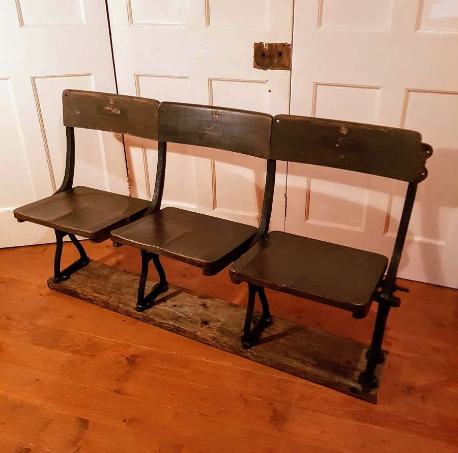 C1900 cast iron stadium seats