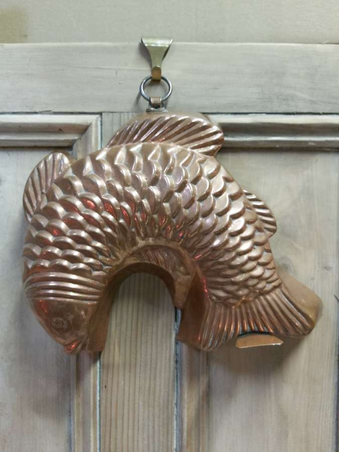 Late 19th century copper fish mould
