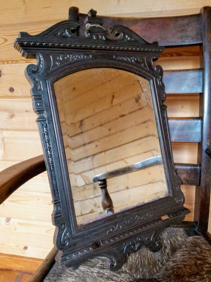Late 19th century Cast iron framed mirror