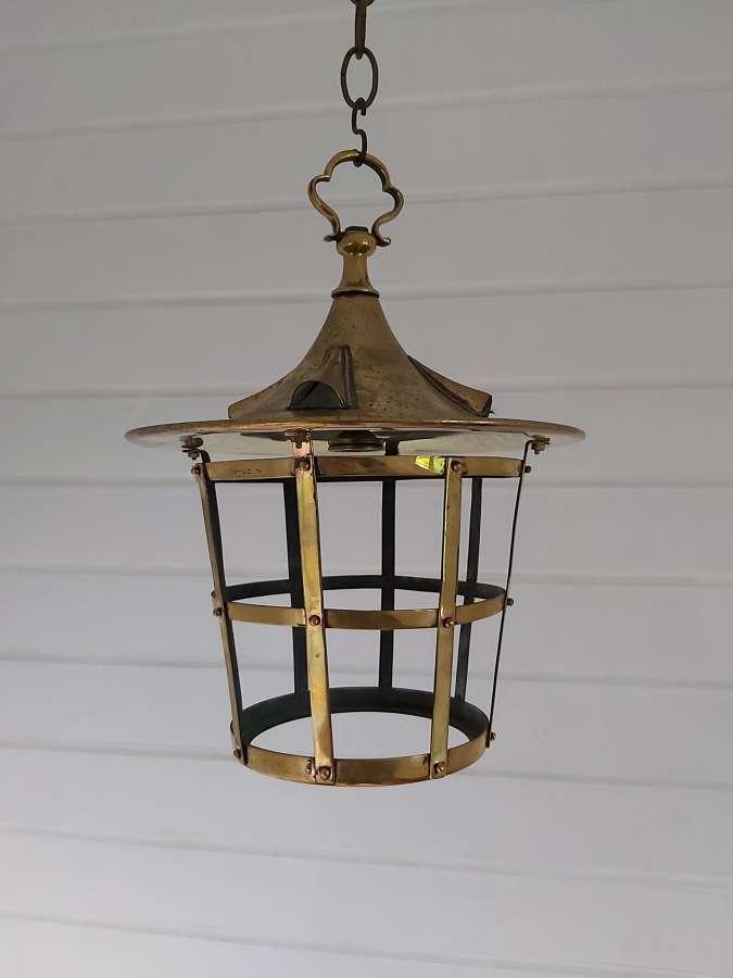 Arts and crafts brass lantern