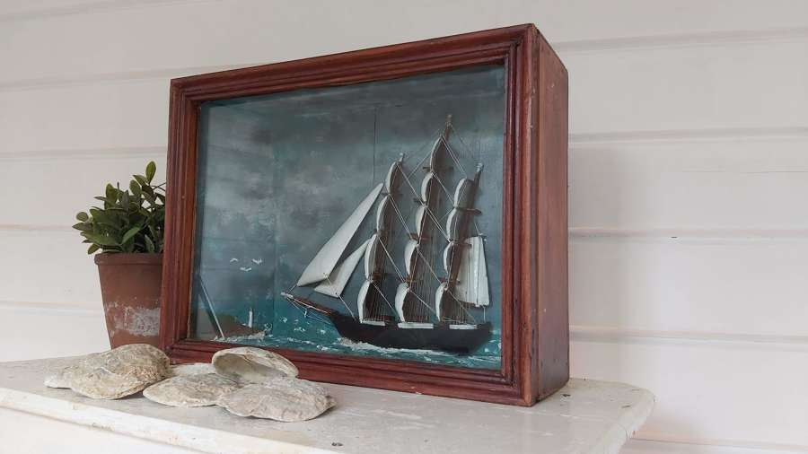 Folk art Ship Diorama