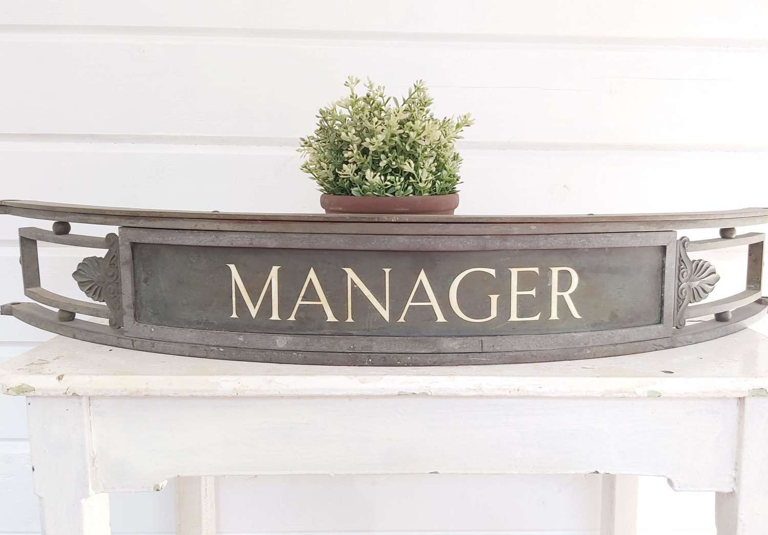 Early 20th century Bank Manager sign