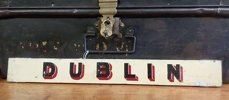 Vintage Irish railway sign