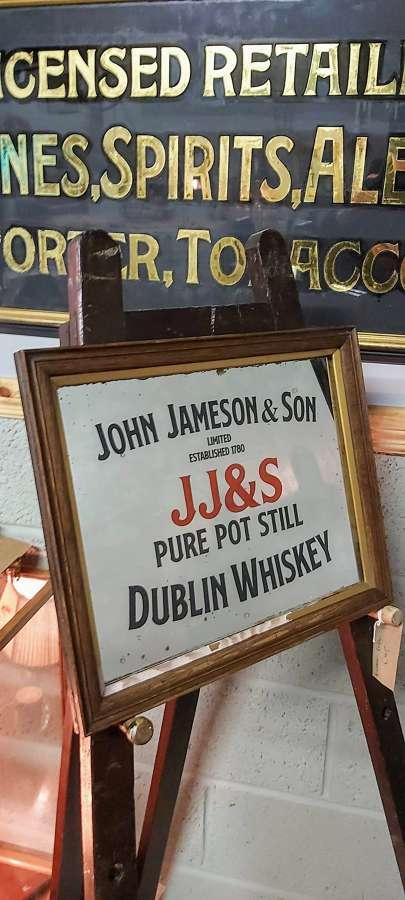Old John Jameson & Son Whiskey Mirror