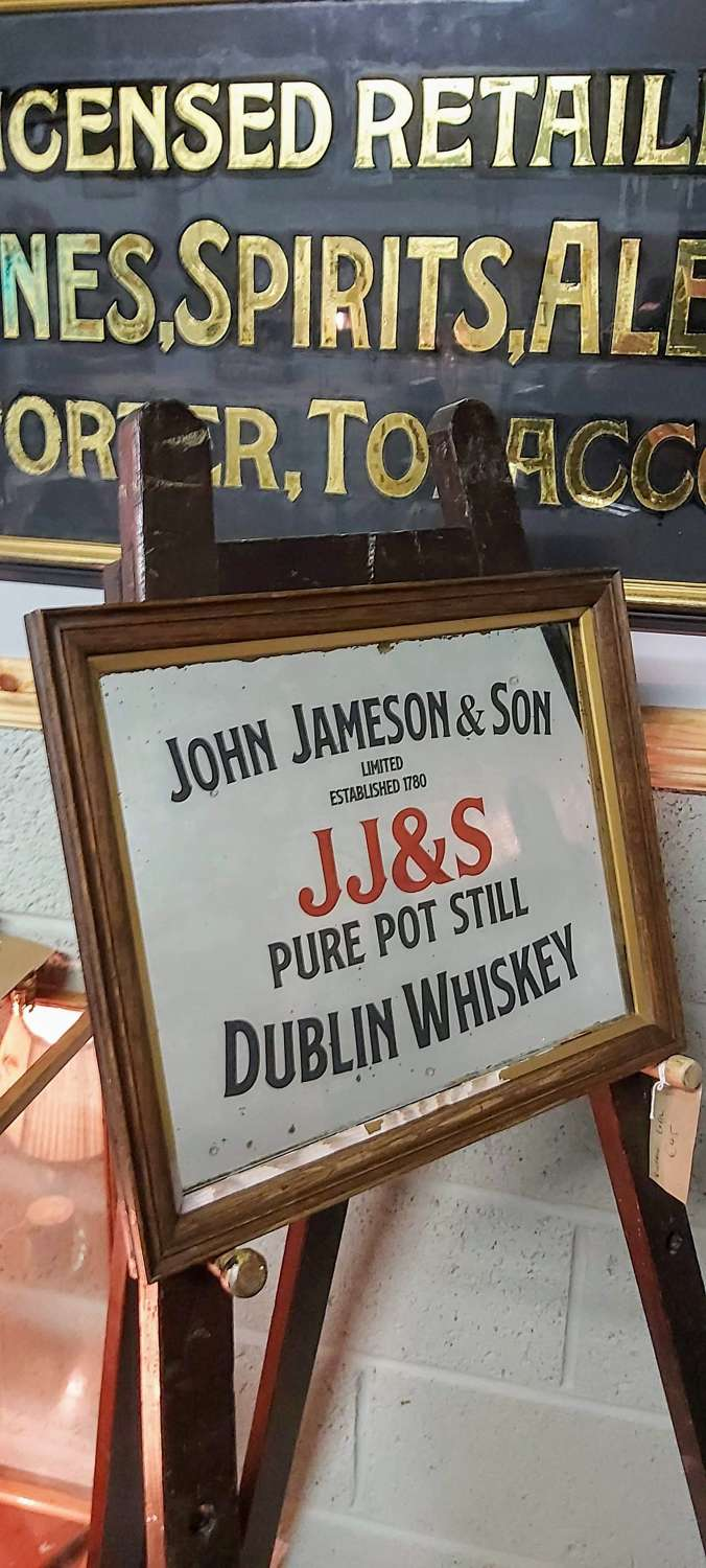 Old John Jameson & Son Whiskey Mirror
