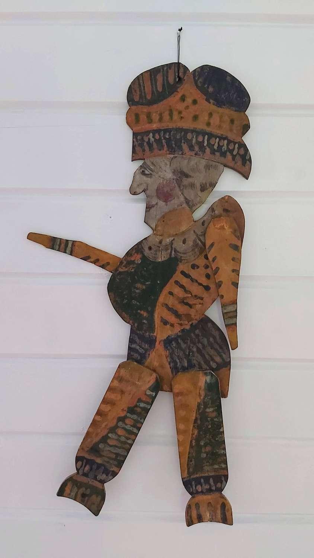 18th century style fairground folk art character