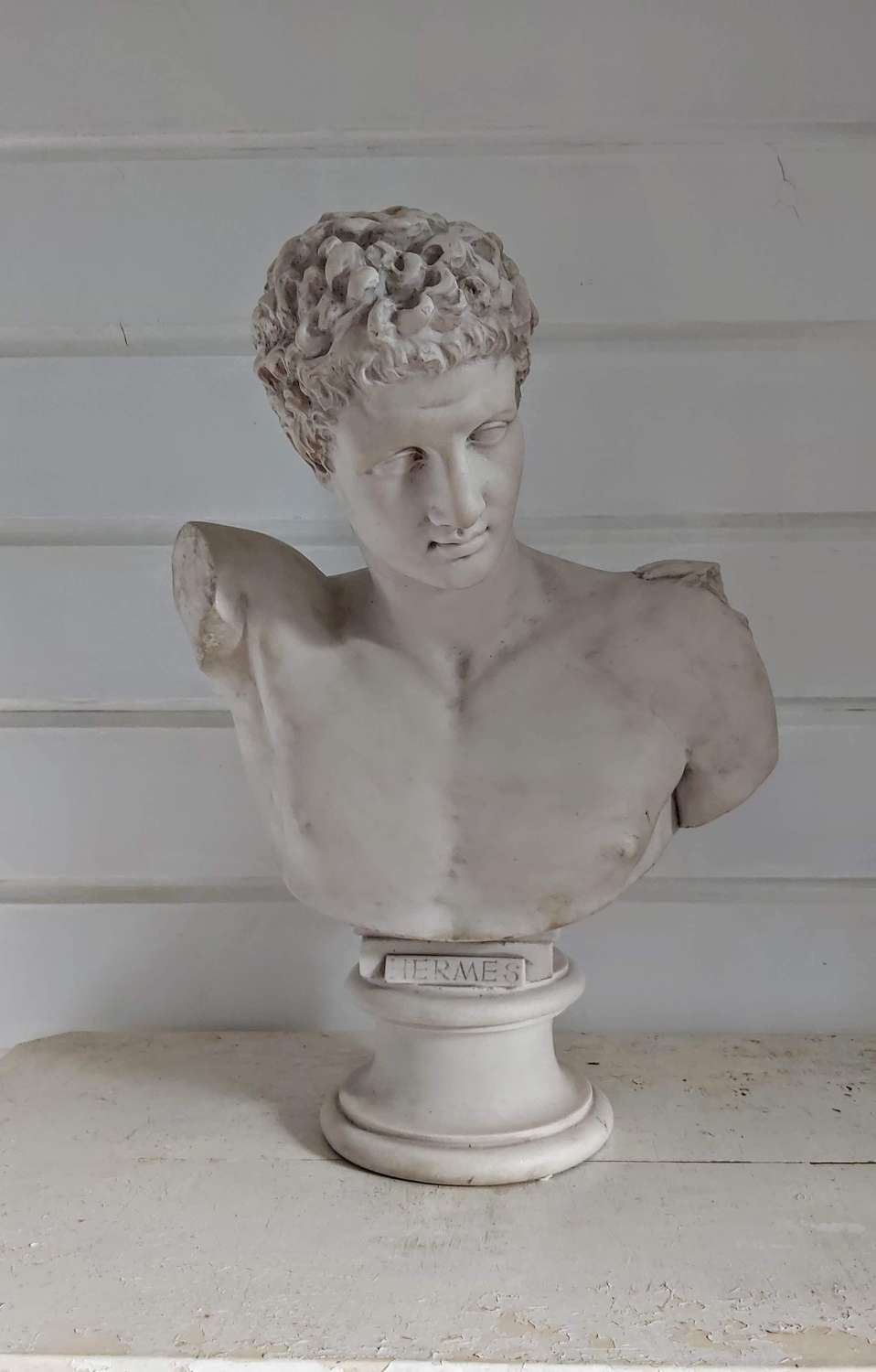 Parian bust of Greek God Hermes