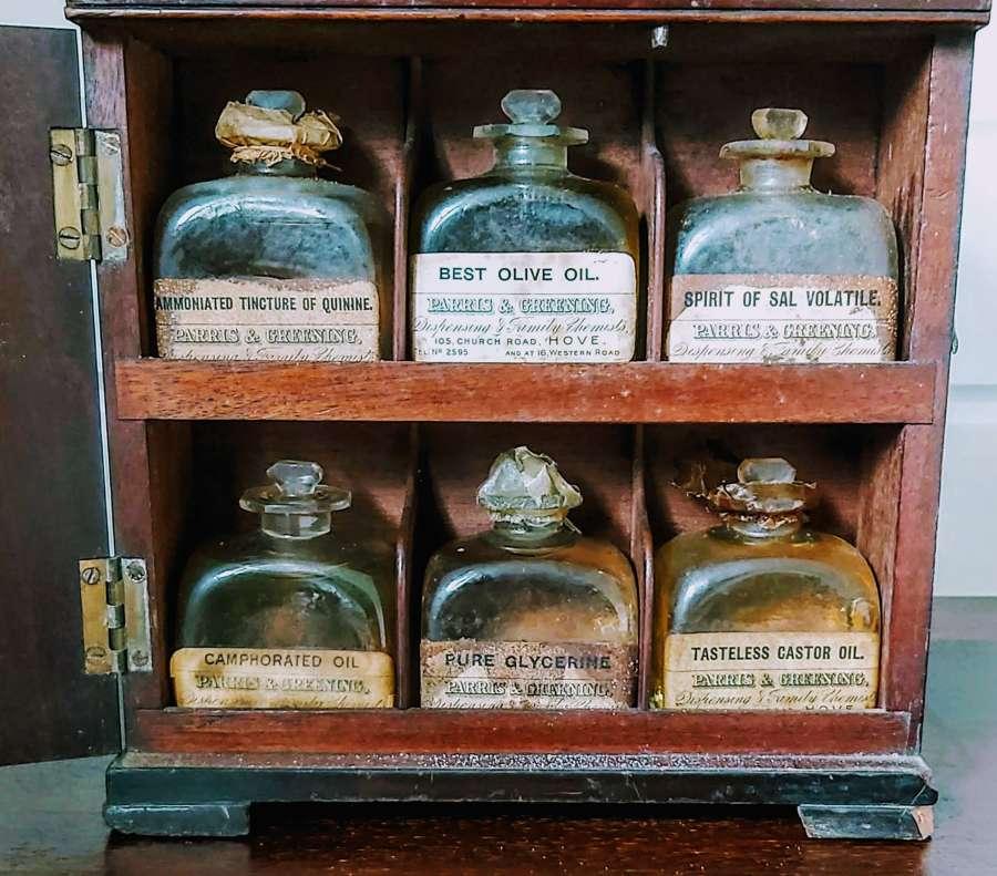 Georgian mahogany apothecary cabinet