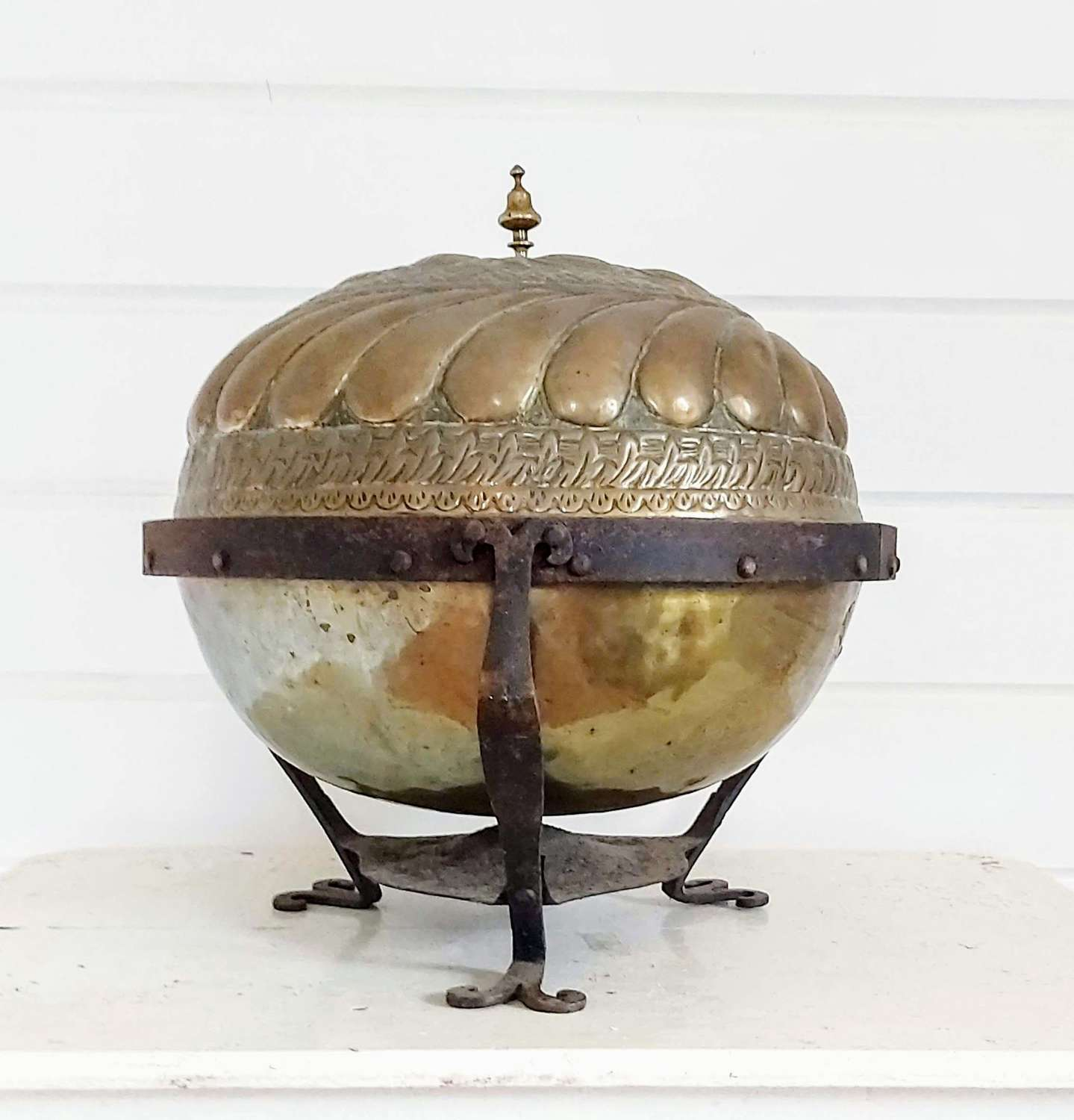 19th century brass brazier