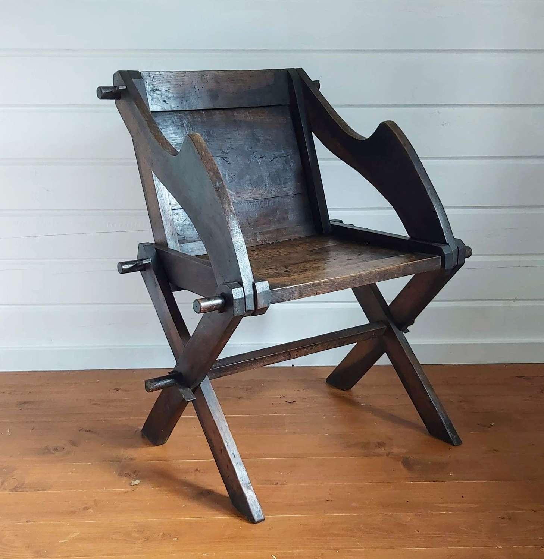 Early 19th century Glastonbury chair