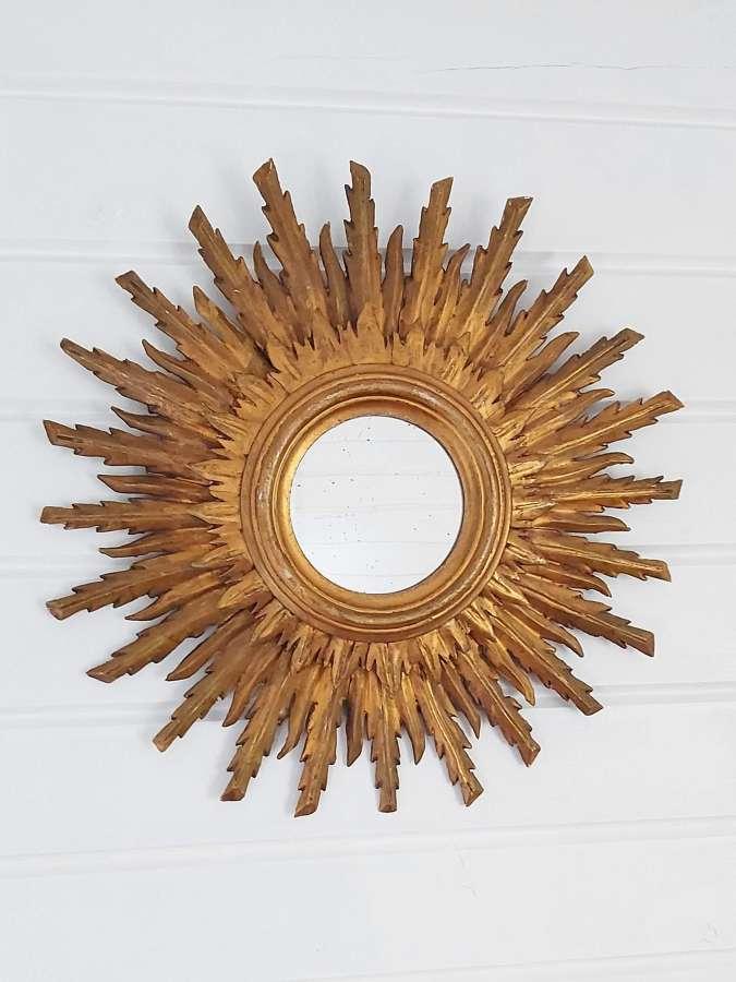 Mid 20th century Spanish sunburst mirror