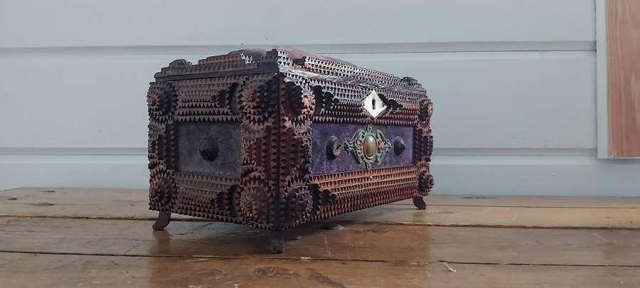 Early 20th century German Tramp art box