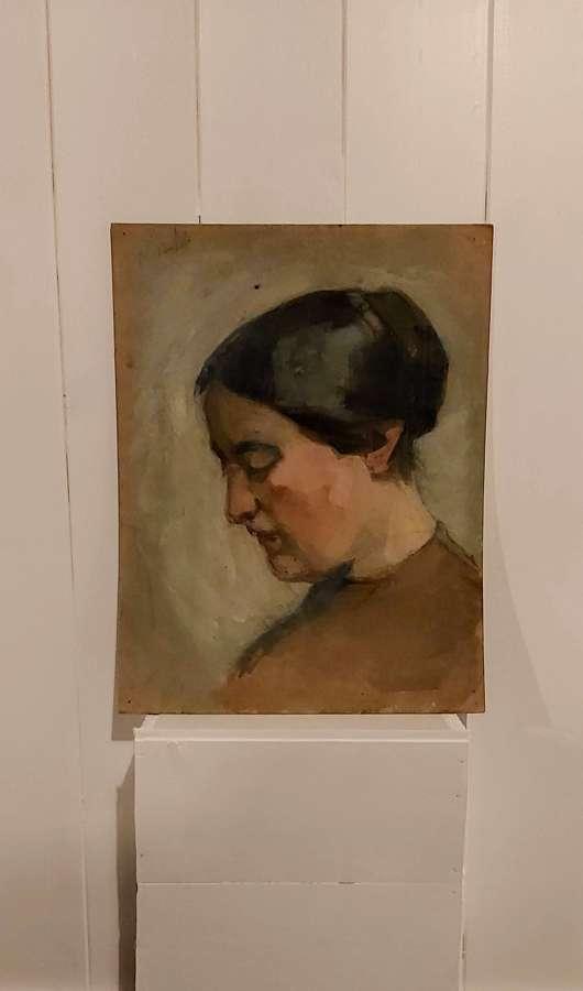 Early 20th century Gouache Portrait