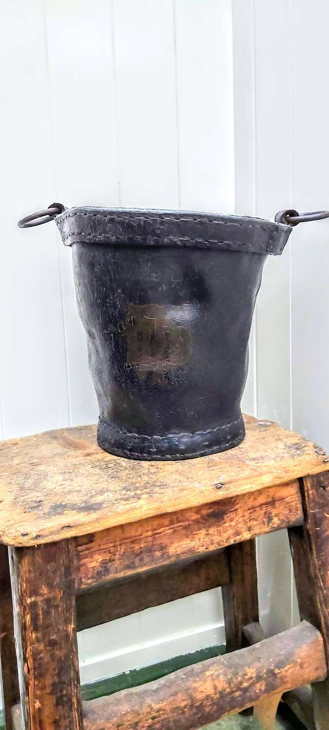 Early 19th century leather bucket