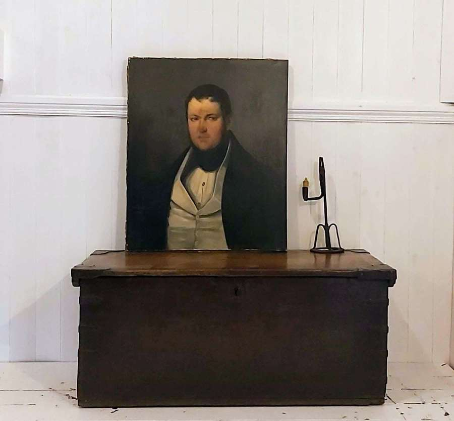 19th century oil portrait of a French gentleman
