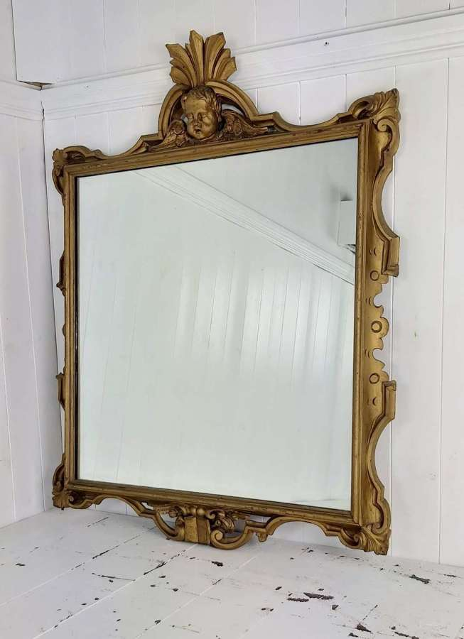 19th century gilt wood framed mirror