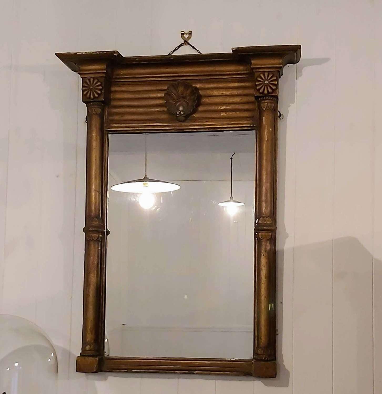 Regency gilt wood pier mirror