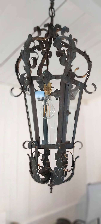 19th century French gilt bronze lantern