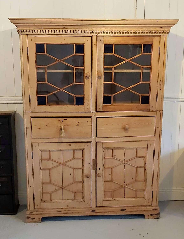 Early 20th century Irish pine Kitchen press/cupboard