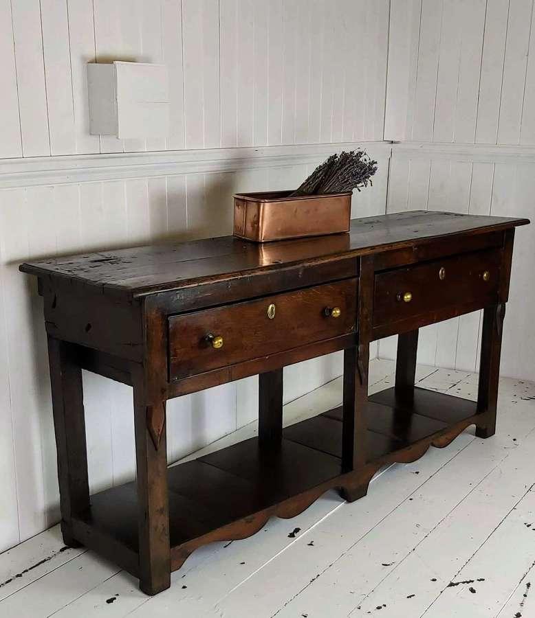 18th century Oak potboard dresser base